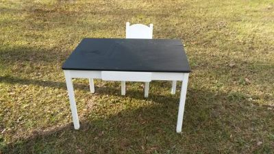 childrens table with chalk top