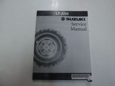 Find 2000 2001 2002 Suzuki LT-A50 LTA50 Service Repair Manual FADING MINOR DAMAGE *** motorcycle in Sterling Heights, Michigan, United States, for US $44.99