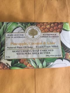 Pineapple coconut and lime natural soap from Australia unbelievable smell new 7 ounce bar heavy