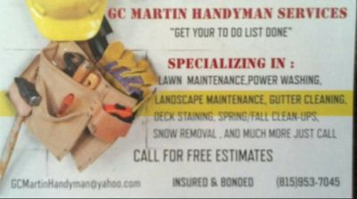 Handyman Service's in Bradley,IL