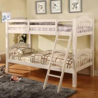 $229, GORGEOUS Solid wood twin over twin white bunk bed- MATTRESS QUEEN AND MORE