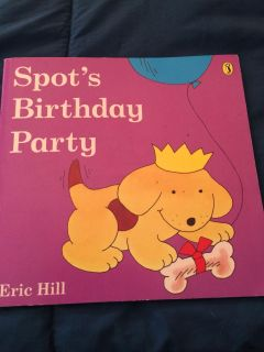 Spots Birthday Party. An open the flap book