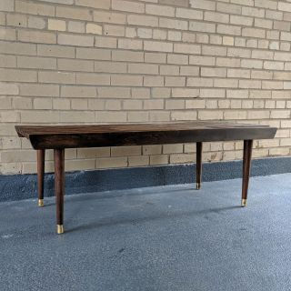 Mid Century Extending Slat Bench / Coffee Table