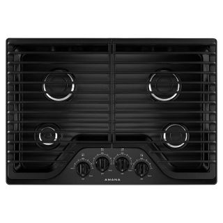 "Amana 30"" Gas Cooktop 4 Burners AGC6540KFB/W Closeout"