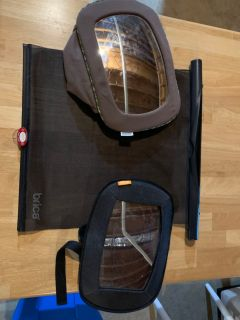 2 mirrors for rear facing car seats and 1 window shade