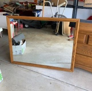 Oak fraimed Mirror