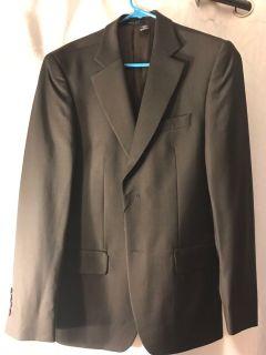 Zara Suit. 36 regular. Pants 30x36. Off black.
