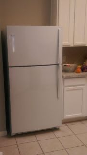 Refrigerator with ice maker, only one year old