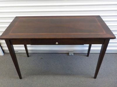 "Writing Table..24""x 48"" Cherry and Mahogany inlaid top"