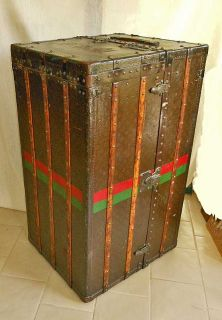 Antique Art Deco Louis Vuitton Wardrobe Trunk