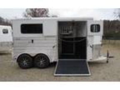 2019 Trailers USA SRDR - White with Extruded Sides 2 horses