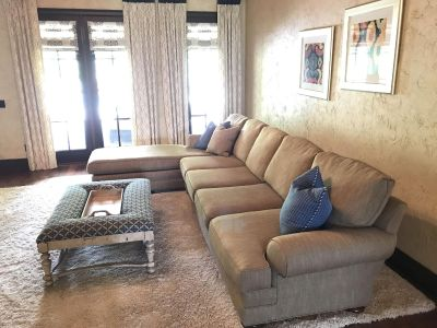 Massoud couch with decorative pillows- BF Myers