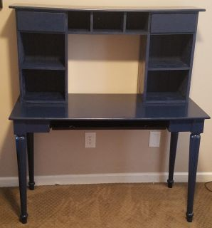 Wood student Desk with hutch