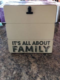 Cute wood photo clip board or can be hung , from Kohl s , used just a short time , like new ! 7 square