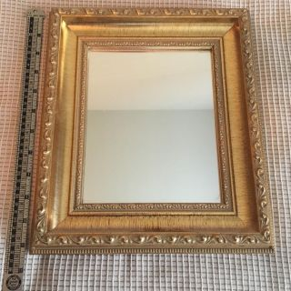 Carved, solid wood 10 x 11.5 mirror