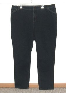 Womens Plus 22 J Jill Tried True Fit Slim Leg Partial Elastic Waist Jeans 22 22w Stretch Plus