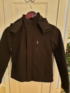 Urban Republic, size 10/12, like new, really nice hooded jacket, darker black than it looks in the picture