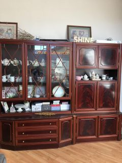 Shrunk cabinet china hutch collectible display case