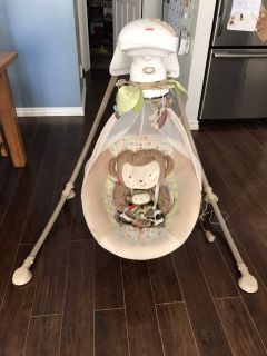 Fisher Price Snugamonkey Swing