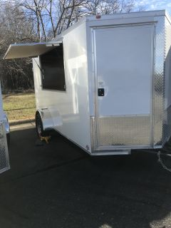 2019 Other 6x12 VNose Enclosed Trailer Vending Style