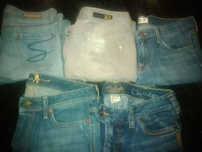 5 size 8-10 low rise boot cut jeans
