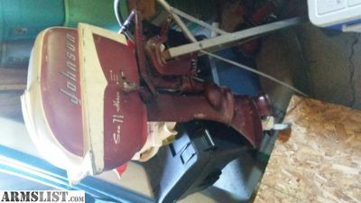 For Trade: 7.5 horse Johnson outboard with stand and gas tank