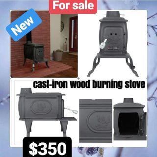 New cast iron wood stove
