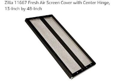 Zila fresh air screen cover with center hinge