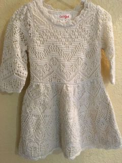 Little girls size 2t Cat and Jack fully lined crotchet body