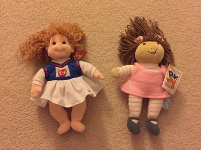 Soft Ty cheerleader and DW doll