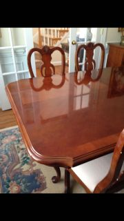 Formal dining room table and chairs