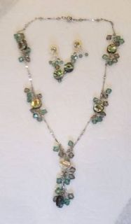 Crystal Necklace and Earings - Swarovski Crystals - very sparkly
