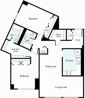2 bedroom in Chevy Chase