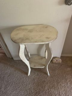 Distressed White Wooden Table