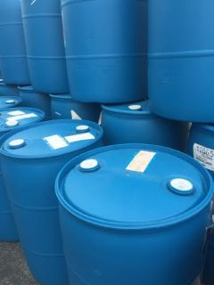 Dozens Of 30 And 55 Gallon Plastic and Some Steel Drums For Sale