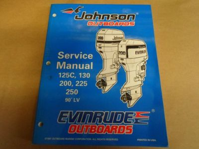 Purchase 1998 Johnson Evinrude Outboards 125C 130 200 225 250 90 LV OEM Service Manual motorcycle in Sterling Heights, Michigan, United States, for US $144.99