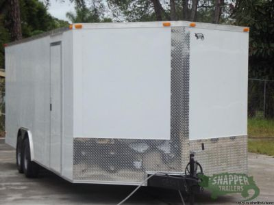 Car Hauler 8.5 x24 feet with 3 feet Side Door and Drings for sale