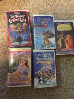 VHS movies $1 each or $4 for all
