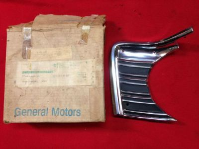 Sell NOS 1967 CHEVELLE SS GRILLE EXTENSION 3893976 ELCAMINO MALIBU 396 427 Chevy 67 motorcycle in Union Grove, Wisconsin, United States, for US $167.67