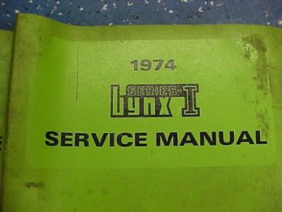 Find Arctic Cat Parts & Service Manuals *VINTAGE* Cheetah, Lynx, Pantera and MORE! motorcycle in Coldwater, Michigan, United States, for US $95.00