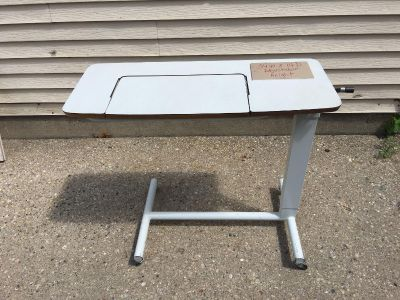 Rolling under the bed table hospital quality adjustable Pickup Marquette Hts only Unable to meet