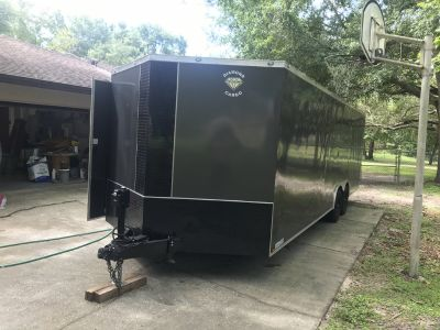 17 8.5x24 diamond cargo enclosed trailer