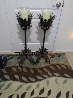 To antique looking floor candles 36in High battery operated
