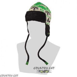 Buy Arctic Cat 2014 Aviator Beanie Hat w/ Strings - Lime Green / Black - 5243-069 motorcycle in Sauk Centre, Minnesota, United States, for US $8.99