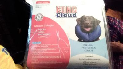 Dog Protective Collar Inflatable by King Cloud for Injuries, Rashes, Biting, Post Surgery Vet Re...