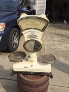 Antique German scale still available