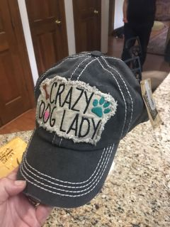 Crazy Dog Lady hat/baseball cap adjustable Velcro