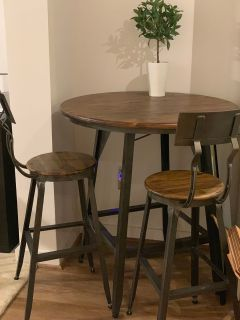 Pub Table and Bar Stools - World Market