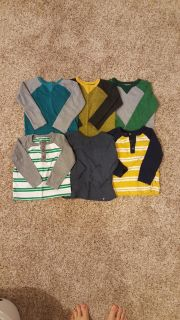 18-24 month Old Navy long sleeve shirts LOT of 6