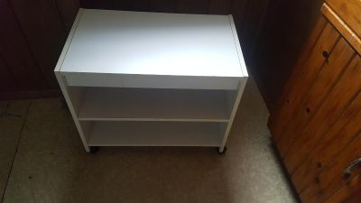 White tv stand or microwave stand